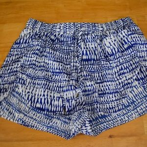H&M Blue and White Printed Shorts